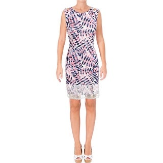 Taylor Womens Wear to Work Dress Textured Printed