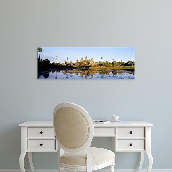 Easy Art Prints Panoramic Images's 'Angkor Wat, Cambodia' Premium Canvas Art