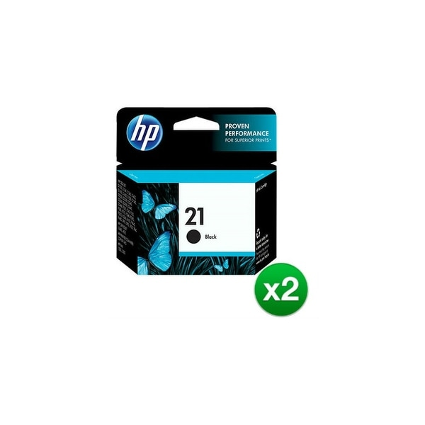 HP 21 Black Original Ink Cartridge (C9351AN) (2-Pack)