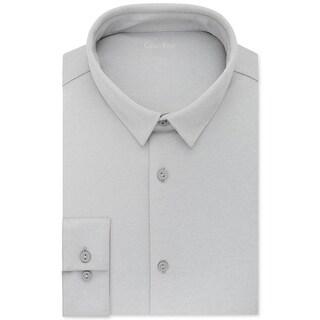 Calvin Klein Mens Dress Shirt Slim Fit 4 Way Stretch
