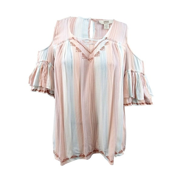 c78ecee34e2d Shop Vintage America Women's Embroidered Cold-Shoulder Top - Old  Rose/Marine - XL - Free Shipping On Orders Over $45 - Overstock - 28019033