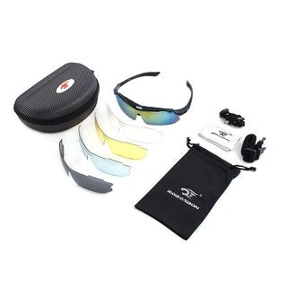 ROBESBON Authorized Temple Demountable Polarized Lens Cycling Glasses Black Set