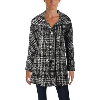 Ellen Tracy Womens Petites Car Coat Winter Wool