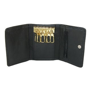 CTM® Men's Leather Snap Closure 2-in-1 Wallet and Key Case