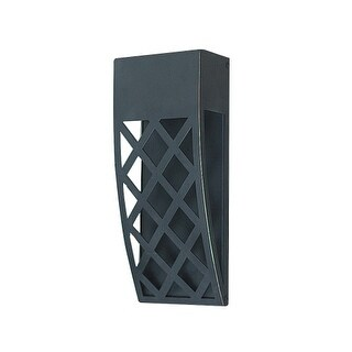 "PLC Lighting 31774 Monty Single Light 12"" High Integrated LED Outdoor Wall Sconc (2 options available)"