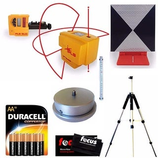 Pacific Laser Systems PLS 4 Red with Grade Rod, Laser Detector,and Tripod Bundle
