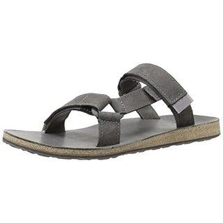 Teva Mens Universal Leather Adjustable Slide Sandals - 13 medium (d)