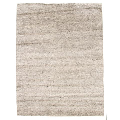 ECARPETGALLERY Hand-knotted Tangier Grey Wool Rug - 8'0 x 10'0