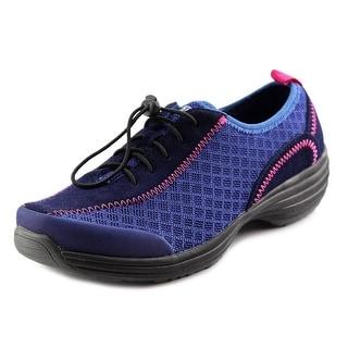Sanita Harbor Women Round Toe Canvas Blue Nursing & Medical Shoe