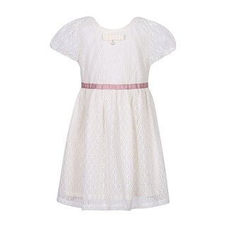 Richie House Little Girls Cream Lace Dress with Bow (5 options available)