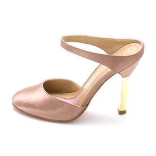 Paris Hilton Aja Womens Textile Mules Heels Shoes