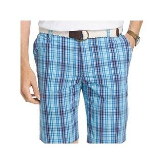 Izod Mens Casual Shorts Plaid Lightweight
