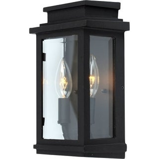 Artcraft Lighting AC8291BK Fremont 2 Light ADA Compliant Outdoor Wall Lantern