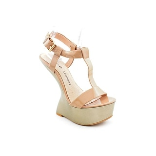 Chinese Laundry Controversy Women Open Toe Canvas Nude Wedge Sandal