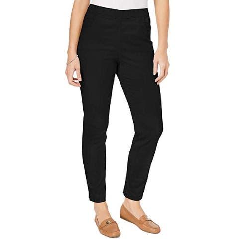 Karen Scott Women's Petite Pull-On Pants Black Size Small / Medium - Small / Medium