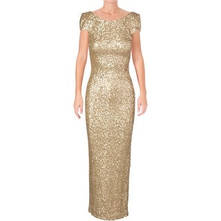 Dress The Population Womens Teresa Semi-Formal Dress Metallic Special Occasion