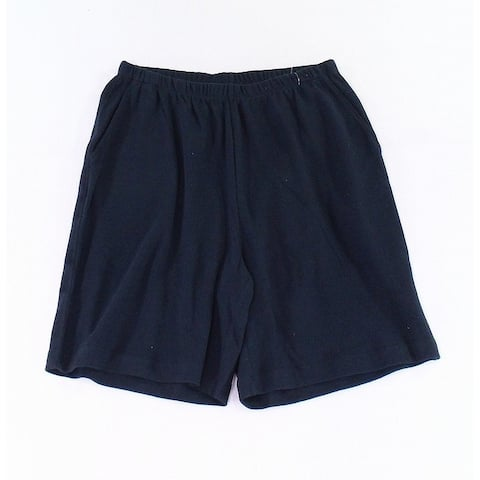 Lands' End Boys Shorts Navy Black Size Medium M Pull-On Stretch Knit