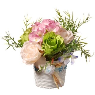 """7"""" Potted Assorted Rose Flower - N/A"""