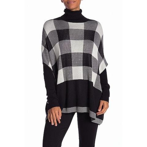 Joseph A. Black White Women's Size Medium M Mock Neck Sweater