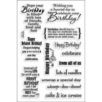 """Birthday Assortment - Stampendous Perfectly Clear Stamps 4""""X6"""" Sheet"""