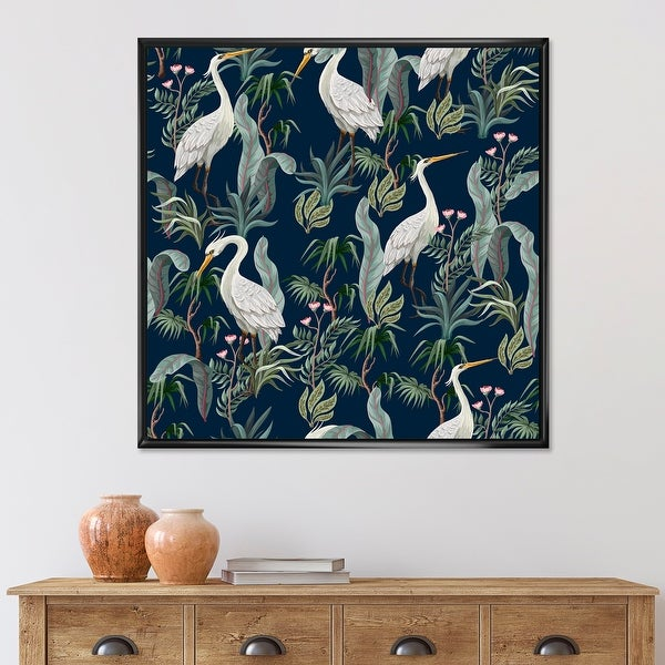 Designart 'Chinoiserie With Birds and Peonies VII' Traditional Framed Canvas Wall Art Print. Opens flyout.