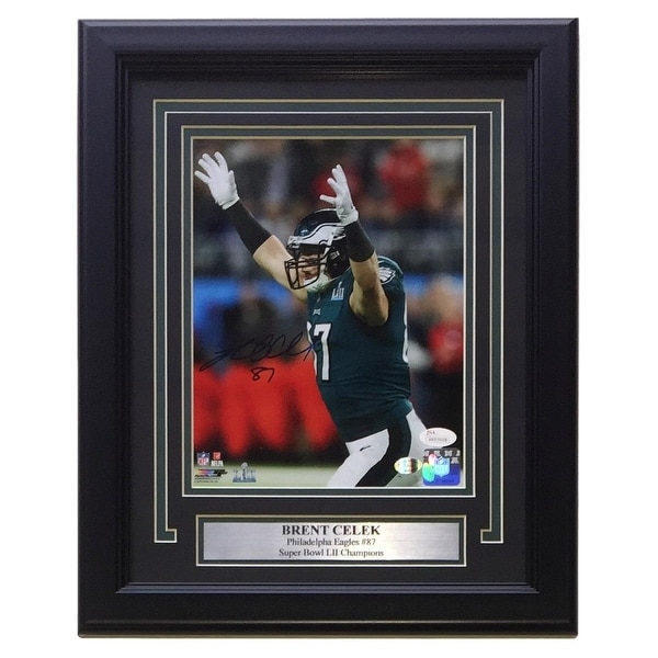 b0af4356660 Shop Brent Celek Signed Framed 8x10 Philadelphia Eagles Super Bowl LII  Photo JSA+SI - Free Shipping Today - Overstock - 25677274
