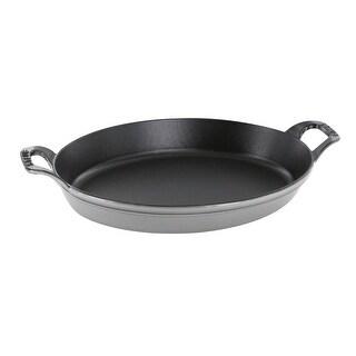 "Staub Cast Iron 14.5"" X 11.2"" Oval Baking Dish - 14.5x11.2"""