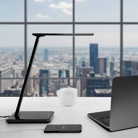 Rixx Dimmable LED Desk Lamp, USB Port, 4 Lighting Modes, Piano Black