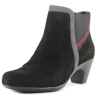 Easy Spirit Carilynn Women Round Toe Suede Black Ankle Boot