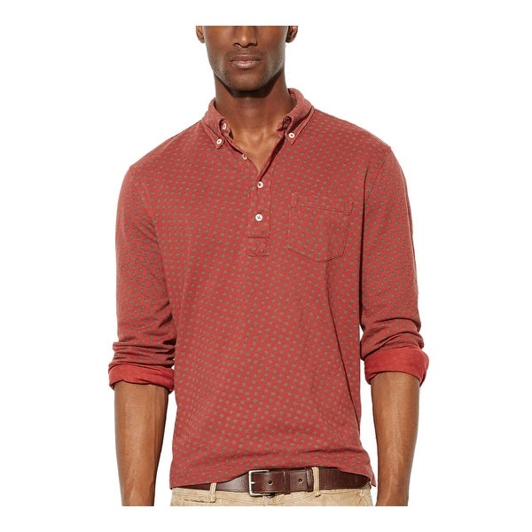 Ralph Lauren RL Featherweight Button Down Mesh Polo Shirt XX-Large Burgundy