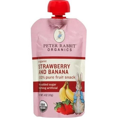 Peter Rabbit Organics - Strawberry & Banana Puree ( 10 - 4 OZ)