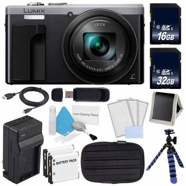 Shop Panasonic Lumix 4k Dmc Zs60 Digital Camera Silver