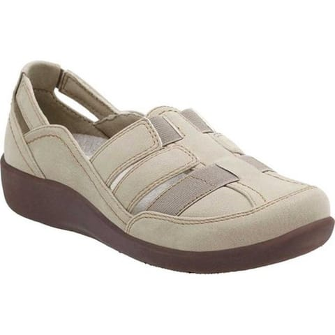 Clarks Women's Sillian Stork Slip-On Sand Synthetic