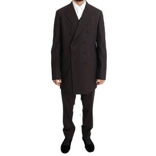 Dolce & Gabbana Dolce & Gabbana Bordeaux Wool Stretch Long 3 Piece Suit - it50-l