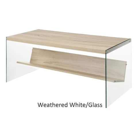 Porch & Den Urqhuart Glass Coffee Table