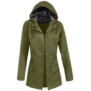 NE PEOPLE Womens Military Anorak Jacket [NEWJ2057]