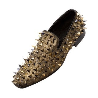 Asher Green Mens Spike and Studded Smoking Slipper