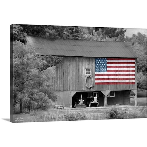 """""""Patriotic Farm I"""" Canvas Wall Art"""