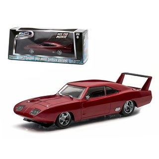 Dom\'s 1969 Dodge Charger Daytona Maroon Fast and Furious 6 Movie (2013) 1/43 Diecast Model Car by Greenlight