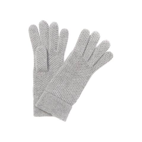 Portolano Women's Honeycomb Cashmere Gloves