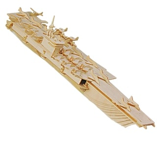 Battle Ship Wooden Craft Aircaft Carrier Model Toy