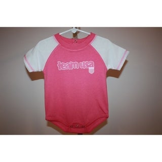 Mended- Olympics Team USA Infants 12 Months (12M) Pink Bodysuit