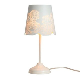 "KANSTAR 15"" Rose Table Lamp - Antique White"