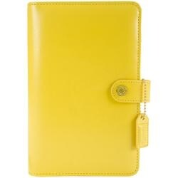 "Yellow - Color Crush Faux Leather Personal Planner Kit 5.25""X8"""