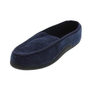 Isotoner Mens Slip-On Slippers Plush Memory Foam