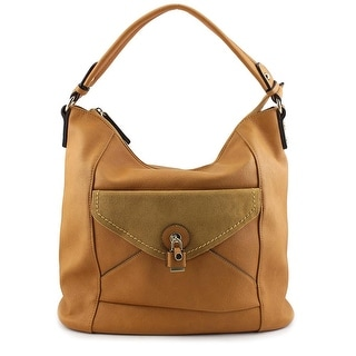 MG Collection Linnea Slouchy Synthetic Hobo - Beige