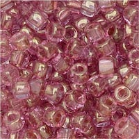 Czech Glass, Tri-Cut 6/0 Matubo Seed Beads, 8 Grams, Red Luster
