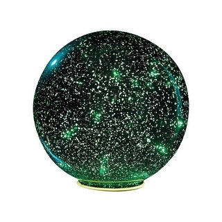 Lighted Mercury Glass Ball Sphere - Green - small