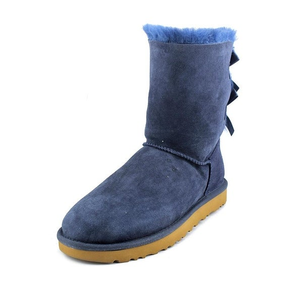 Ugg Australia Bailey Bow II Women  Round Toe Suede Blue Winter Boot