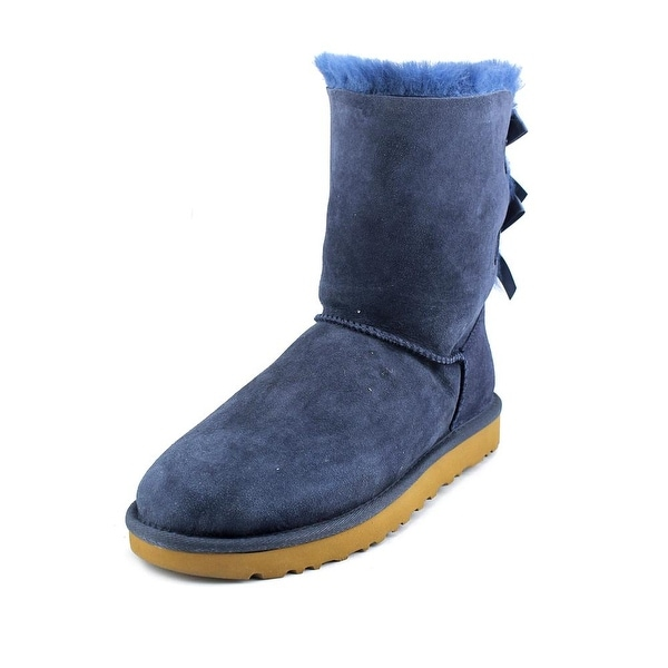 912677cbae5 Shop Ugg Australia Bailey Bow II Women Round Toe Suede Blue Winter ...
